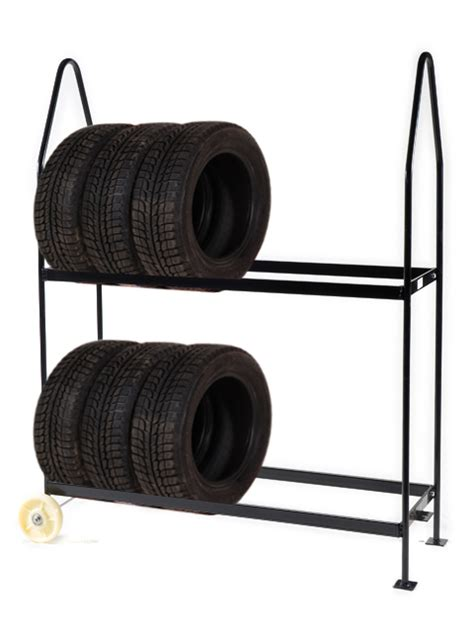 the tire rack basic mobile tire rack on 2 wheels