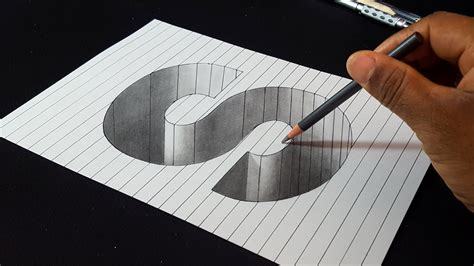 How To Draw 3d Letter S Hole Shape