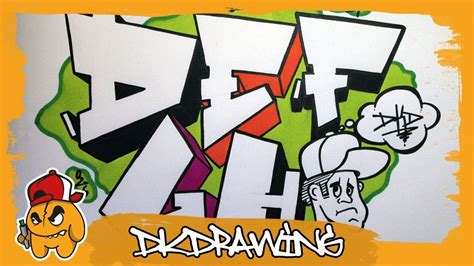 How To Draw Graffiti Letters D