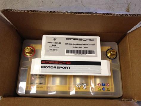 Porsche Motorsport Lithium Ion Lightweight Battery ...