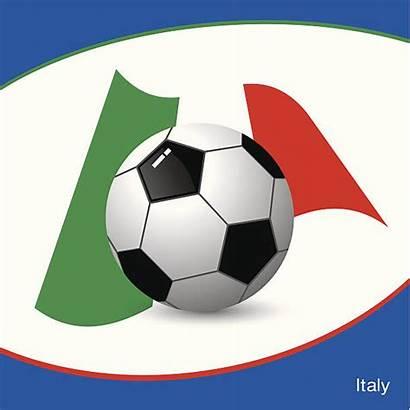 Football Vector Flag Clip Italy Illustrations Vectors