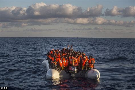 Overcrowded Refugee Boat by Thousands Of Migrants Found In Overcrowded Boats Heading