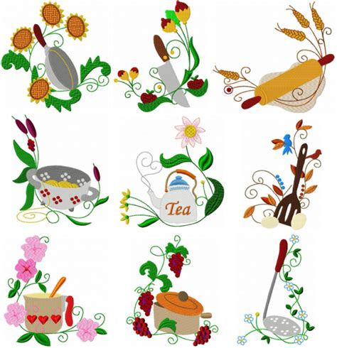 kitchen applique designs deco kitchen corners freeembroiderydesigns 2187