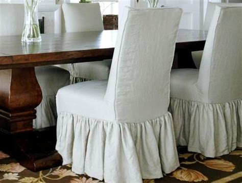 slipcovered parsons chairs home furniture design