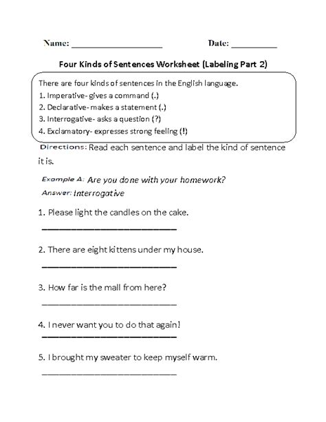 19 best images of sentence structure worksheets 5th grade