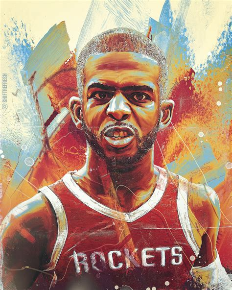 Chris Paul Cp3 Nba Wallpaper Poster By Skythlee On