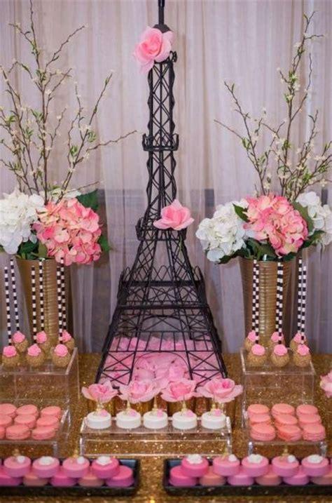 22 Chic Parisian Themed Bridal Shower Ideas   crazyforus