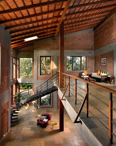 indian brick house   architectural design influenced