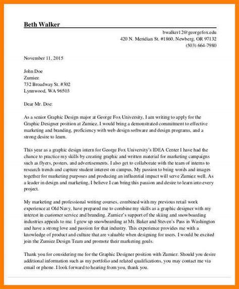 graphic designer cover letter letter flat
