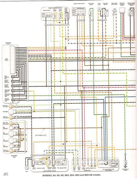 1993 Yamaha Virago 750 Wiring Diagram Schematic by Faq Colored Wiring Diagram Gt All Sv650 Models Suzuki