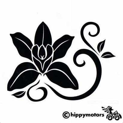 Decal Orchid Flower Cars Vinyl