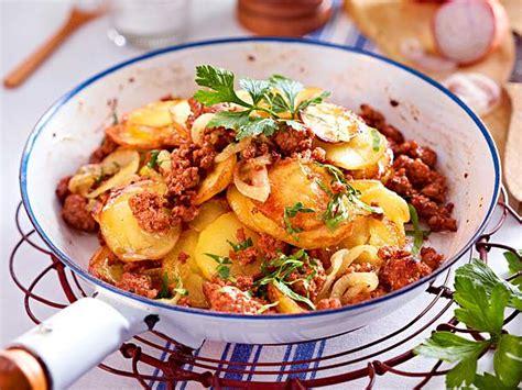 schnelle kartoffel rezepte kartoffel hack pfanne rezept lecker