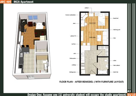 500 Sqft Studio Apartment Floor Plan