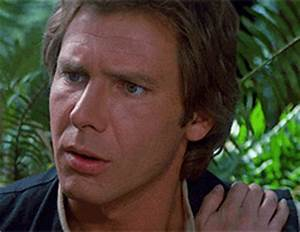 Reaction gif tagged with confused, Harrison Ford, Star Wars