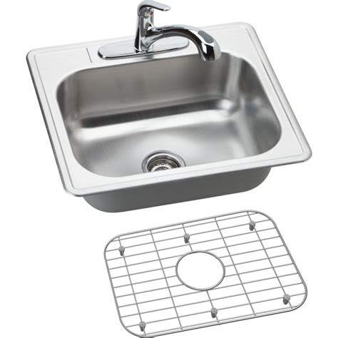 faucets for kitchen sinks elkay dse12522 dayton elite stainless steel single bowl 7177