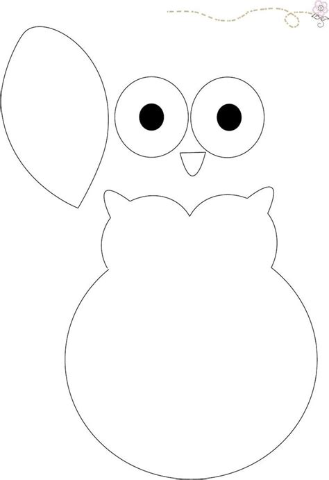 Owl Template Best 25 Felt Owl Pattern Ideas On Felt