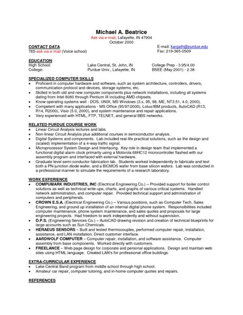 sle resume that i can copy and paste copy and paste resume templates sles of resumes