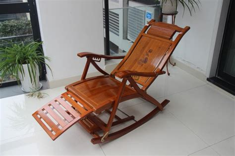 Outdoor Balcony Chairs by Fashion Lengthened Bamboo Folding Wicker Chair Recliner
