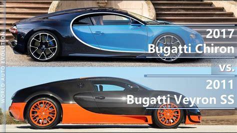 Bugatti Veyron And Chiron by 2017 Bugatti Chiron Vs Bugatti Veyron Ss Technical