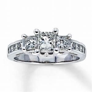 three diamond princess cut engagement ring diamantbilds With three diamond wedding rings