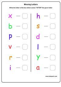 english alphabets learning  letter worksheets
