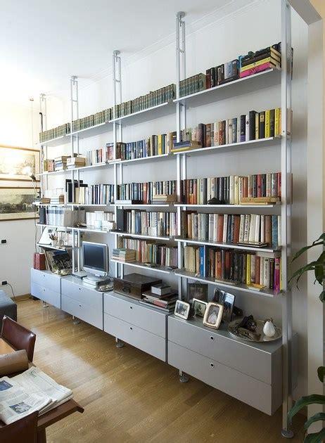 scaffale bifacciale componibile  alluminio  libreria