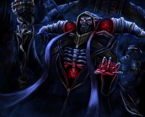 5091931 ainz ooal gown magician skull warrior demon overlord wallpaper and
