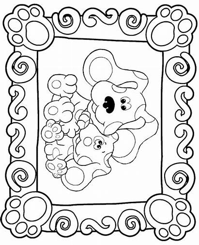 Blues Clues Coloring Pages Printable Clue Fun