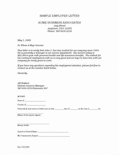 Letter Employment Verification Template Sample Blank Employee