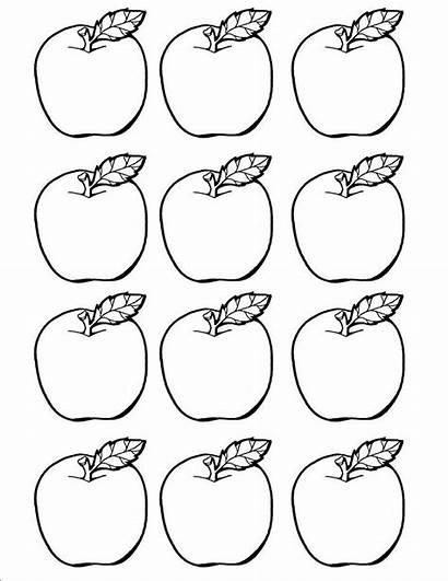 Apple Coloring Printable Apples Template Preschool Cut