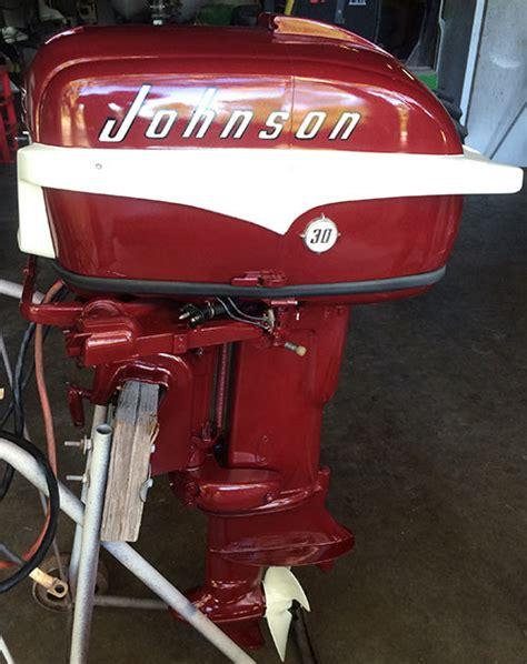 hp johnson javelin restored outboard boat motor