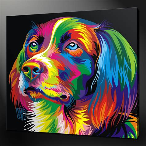 abstract dog paintings   animal canvas wall art