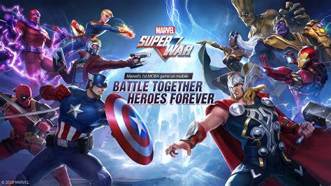 marvel super war marvels  moba game  mobile