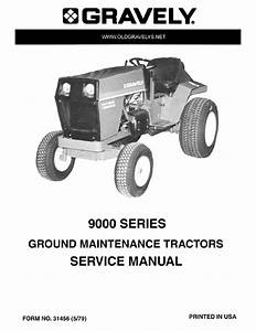 Gravely 9000 Series Service Manual For Grounds Maintenance