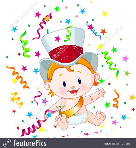 New Year Baby Illustration