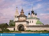 Alexander Kloster, Suzdal stockbild. Bild von blau ...