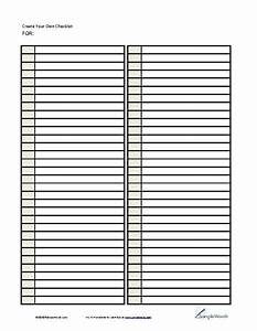 8 best images of create a free printable checklist With blank checklist template pdf