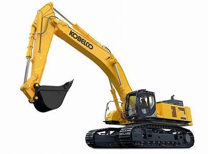 Excavator Kobelco Transparent Excavators Construction Largest Equipment