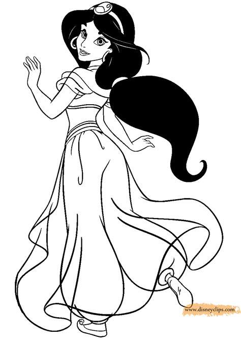 princess jasmine coloring pages    print