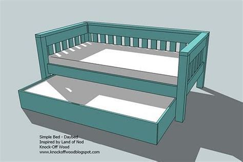 wooden trundle bed frame plans  woodworking