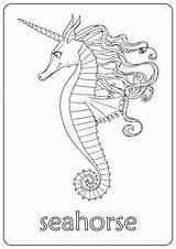 Coloring Seahorse Printable Cavalo Marinho Colorir Maravilhoso Coloringoo Desenhos Imprimir Normal Colorironline Desenho sketch template