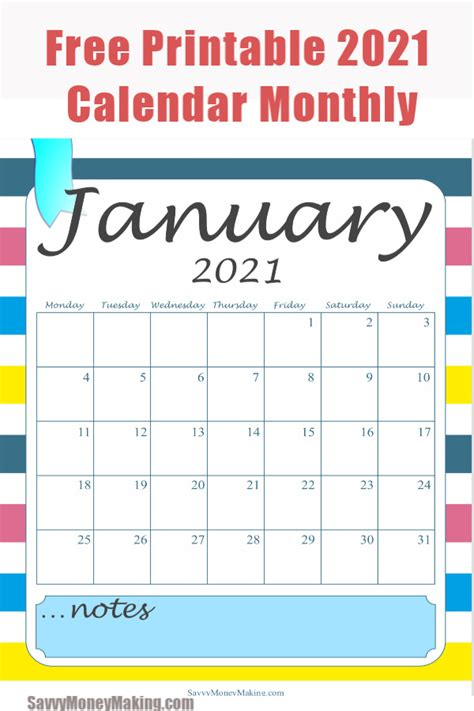 monthly calendar printable  monthly calendar