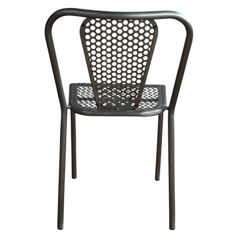 chaise style industriel chaise en métal grise style industriel demeure et jardin