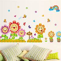 great kidsroom wall decals Cute Spring Wall Decor Stickers For Kids Room & Nursery ...
