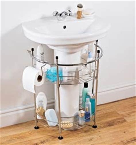 pedestal sink organizer lnt pedestal sink storage casual cottage