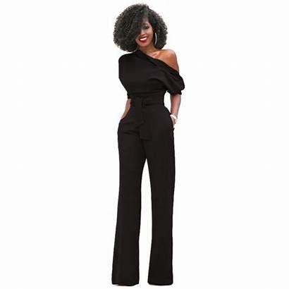 Jumpsuit Shoulder Sleeve Jumpsuits Short Elegant Wide