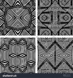 African Patterns Black And White Seamless