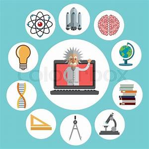 Science Concept With Chemistry Icons Design  Vector