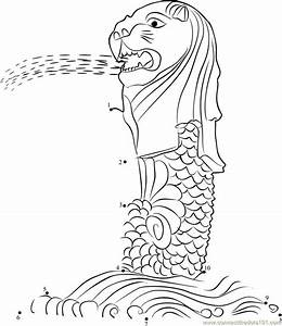 Family Tree Template Online Singapore Merlion Coloring Page National Symbols Dog
