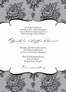 stylish wedding invitation templates wedding invitation With free printable red and black wedding invitations